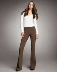 Theory | Brown Boot-cut Pants | Lyst