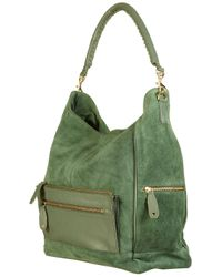 TOPSHOP | Green Oversize Suede Pocket Tote Bag | Lyst