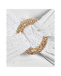 Trina Turk - White Crochet Knit Bandeau Bikini Top - Lyst