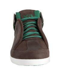 Y-3 | Green Adidas Bark Leather Kazuhiri Sneakers for Men | Lyst