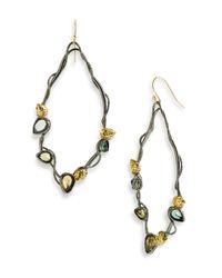 Alexis Bittar | Blue Gold Spike Hoop Earring | Lyst