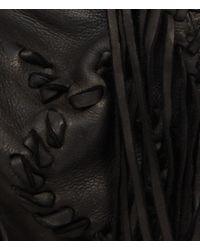 AllSaints - Black Bonita Fringe Bag - Lyst