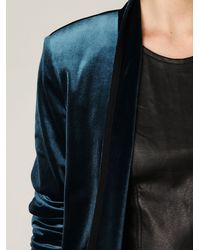 Free People - Blue Velvet Blazer - Lyst