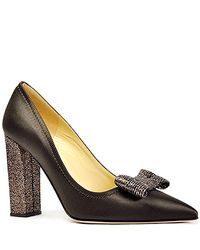kate spade new york | Leena - Black Satin and Glitter Pump | Lyst