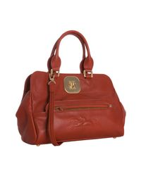 Longchamp | Red Terracotta Leather Gatsby Handbag | Lyst