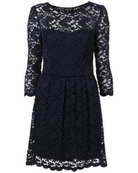 TOPSHOP - Blue Sweetheart Lace Flippy Dress - Lyst