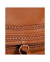 Chloé   Brown Tan Calfskin Braided Leather Marcie Large Shoulder Bag   Lyst