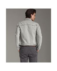 Edun - Gray Jean Jacket for Men - Lyst