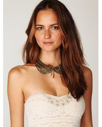 Free People | White Scallop Strapless Dress | Lyst