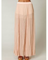Free People - Pink Full Maxi Chiffon Skirt - Lyst