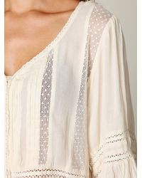 Free People | White Victorian Inset Tunic | Lyst