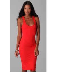 James Perse | Red Twisted Tank Dress | Lyst