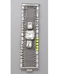 Juicy Couture | Metallic Mesh Chain Bracelet | Lyst