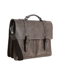 Kenneth Cole | Gray Grey Leather Durango Port Portfolio Briefcase for Men | Lyst