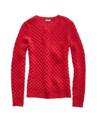 Madewell | Red Cloud Puff Sweater | Lyst
