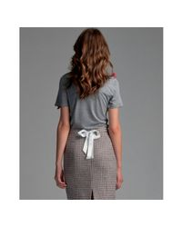 RED Valentino - Gray Grey Modal Bow Embellished T-shirt - Lyst