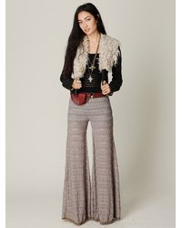 Free People - Brown Fp Extreme Knit Flare - Lyst