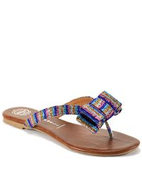 Jeffrey Campbell | Multicolor Bowie Fab - Multi-colored Lame Thong Sandal | Lyst