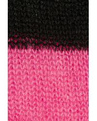 MICHAEL Michael Kors - Black Striped Open-knit Sweater - Lyst