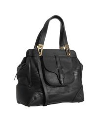 Chloé | Black Leather Mary Pocket Tote | Lyst