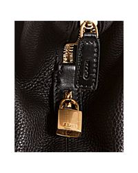 Fendi - Black Leather 2bag Shopper Tote - Lyst