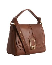 Fendi - Brown Leather Anna Small Shoulder Bag - Lyst