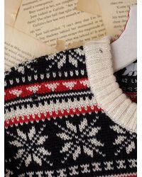Free People | Multicolor Vintage Fairisle Ski Pullover Sweater | Lyst