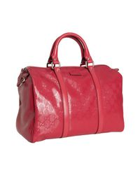 Gucci | Red Gg Imprime Joy Medium Boston Bag | Lyst