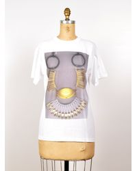 Kirsty Ward - White Printed Necklace Scan T Shirt By - Lyst
