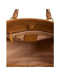 Prada - Brown Cinnamon Leather City Calf Medium Convertible Tote - Lyst