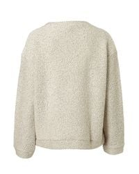 TOPSHOP | Natural Lurex Slubby Sweater | Lyst