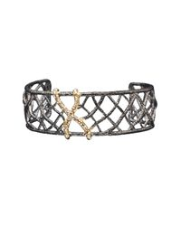 Alexis Bittar | Metallic Elements Pavé Accent Small Woven Cuff | Lyst
