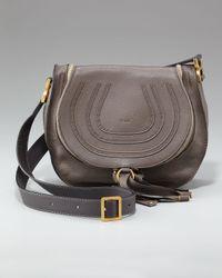 Chloé | Marcie Crossbody Bag, Dark Gray | Lyst