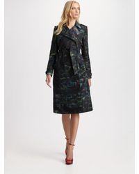 Erdem | Green Printed Trenchcoat | Lyst