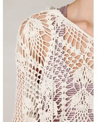 Free People | White Pacifica Crochet Hoodie | Lyst
