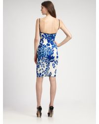 Just Cavalli - Blue Leopard-print Patchwork Bustier Dress - Lyst