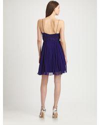 Kay Unger - Blue Silk Babydoll Dress - Lyst