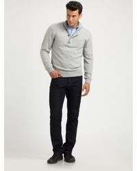 Michael Kors | Gray Wool/cashmere Half-zip Sweater for Men | Lyst