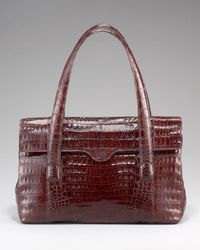 Nancy Gonzalez | Brown Flap-top Crocodile Tote | Lyst