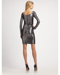 Nicole Miller - Metallic Sequined Dress - Lyst