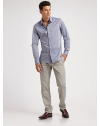 Theory - Blue Chambray Sportshirt for Men - Lyst