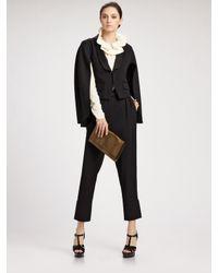 Saint Laurent - Black Wool Tuxedo Cape Jacket - Lyst