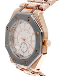 ASOS Collection - Metallic Asos Boyfriend Style Watch with Octagonal Case Detail - Lyst