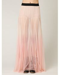Free People - Pink Fp One Mesh Ombre Skirt - Lyst