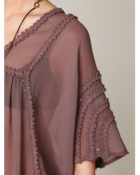 Free People | Purple Beaded Beauty Dress | Lyst