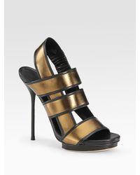 Gucci | Bette High-heel Platform Sandal, Bronze Metallic | Lyst