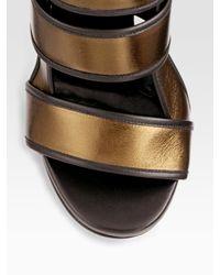 Gucci - Bette High-heel Platform Sandal, Bronze Metallic - Lyst