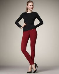 Hudson Jeans - Red Collin Scarlet Skinny Jeans - Lyst