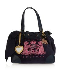 Juicy Couture | Pink Daydreamer-scotty Velour and Leather Tote | Lyst