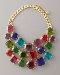 kate spade new york - Multicolor Crystal Bib Necklace - Lyst